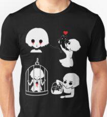Fran Bow - Schwarz-Weiß-Muster Slim Fit T-Shirt