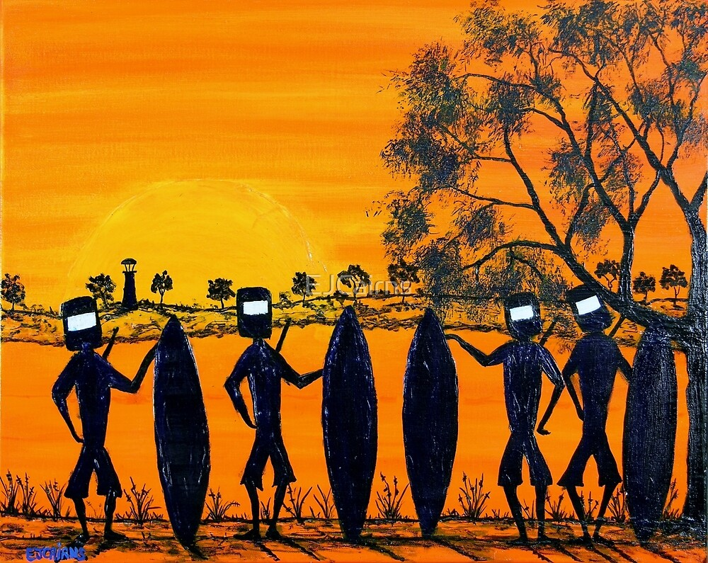 """""""Ned Kelly Gang Off For A Surf"""" Australia; SOLD by EJCairns"""