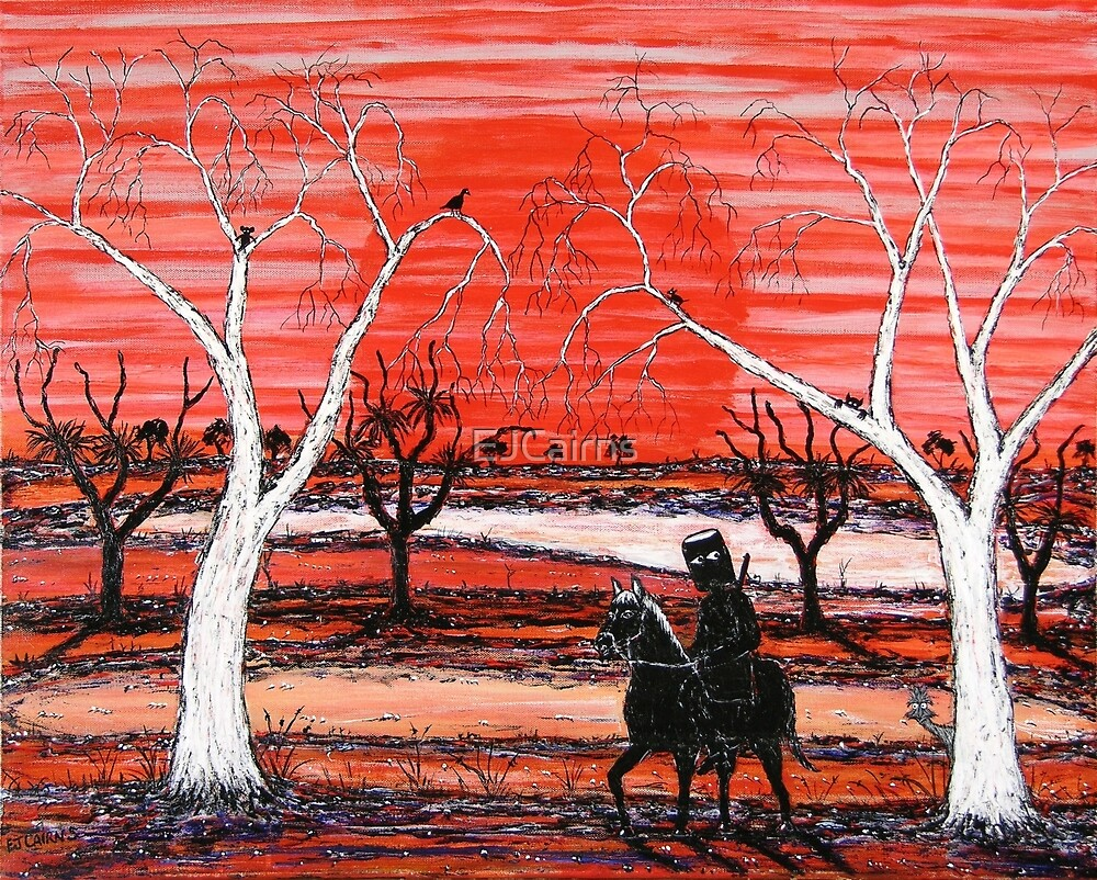 """Scared Ned"" Original Australian Acrylic Painting; For Sale by EJCairns"