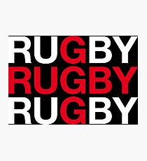 RUGBY Photographic Print