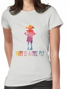 Dobby Is A Free Elf - Colourful Silhouette Womens Fitted T-Shirt