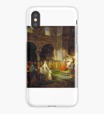 François Dubois - Annointing of Pepin the Short at Saint-Denis iPhone Case/Skin