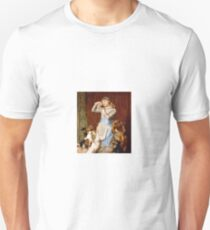Briton Riviere - Girl With Dogs  T-Shirt