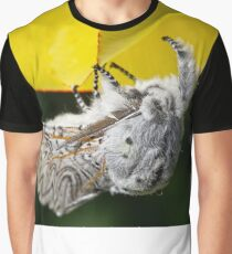 Furry Puss Moth on yellow Tulip Graphic T-Shirt