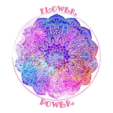Watercolor mandala. Flower Power by anvino