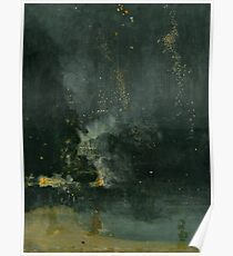 Whistler - Nocturne in black and gold Poster