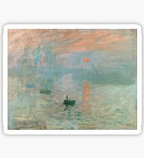 Claude Monet - Impression Sunrise Sticker