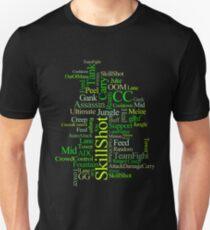 MOBA wordcloud - radioactive T-Shirt