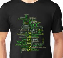 MOBA wordcloud - radioactive Unisex T-Shirt