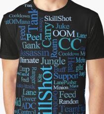 MOBA wordcloud - ocean floor Graphic T-Shirt