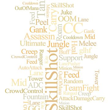 MOBA wordcloud - sand by SCshirts