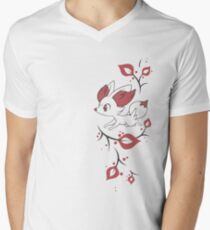 Fennekin Two Tone Men's V-Neck T-Shirt