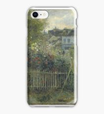 Claude Monet - Monet Painting in his Garden At Argenteuil  iPhone Case/Skin