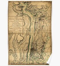 American Revolutionary War Era Maps 1750-1786 239 A plan of the operations of the King's army under the command of General Sir William Howe KB in New York and Poster