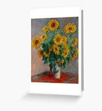 Claude Monet - Sunflowers Greeting Card