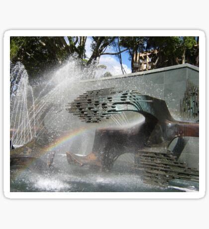 Newcastle (NSW) - Civic Fountain Rainbow Sticker