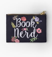 Book Nerd Reverse Zipper Pouch