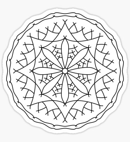 Mountain Flower Mandala Sticker