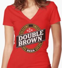 Double Brown - Nectar of the Gods Women's Fitted V-Neck T-Shirt