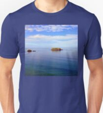 Rock and Water Landscape | Seascape | Blue Water T-Shirt