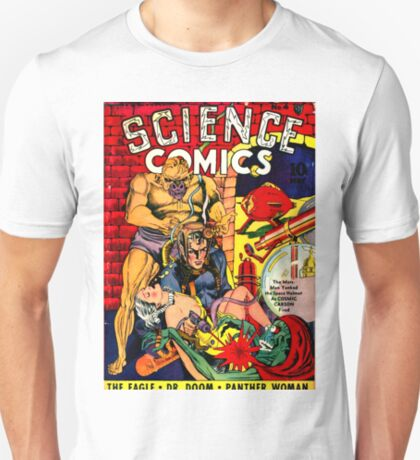 Vintage Science Comic Hero T-Shirt