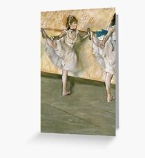 Edgar Degas - Dancers At The Bar Greeting Card