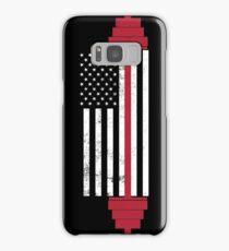 USA Weightlifting Flag Samsung Galaxy Case/Skin