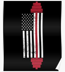 USA Gewichtheben Flagge Poster