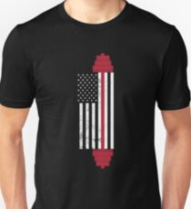 USA Weightlifting Flag Unisex T-Shirt
