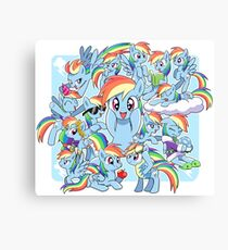Every Rainbow Dash EVER Canvas Print