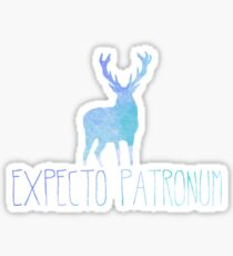 Expecto Patronum Stag - Colourful Blue Silhouette Sticker