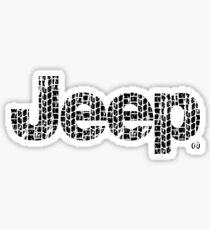 Jeep tires 2 black Sticker