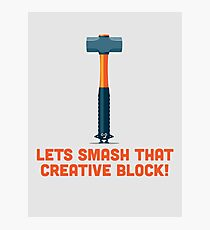 Character Building - Sledgehammer Photographic Print