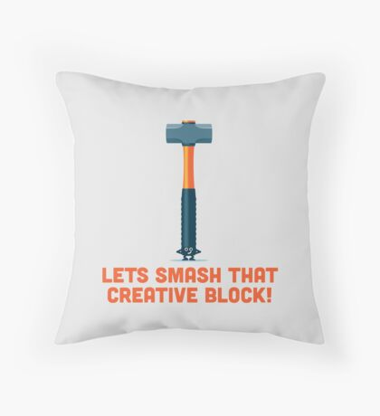 Character Building - Sledgehammer Throw Pillow