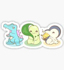 Johto Starter Pokemon Sticker