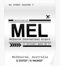 Melbourne, Australia International Airport Print Poster
