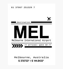 Melbourne, Australia International Airport Print Photographic Print