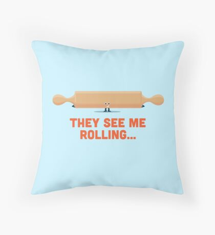Character Building - Rolling Throw Pillow