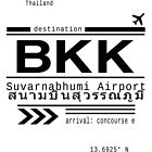 BKK Bangkok, Thailand airport Call Letters by Leah Biernacki