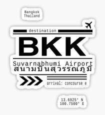BKK Bangkok, Thailand airport Call Letters Sticker