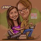 Caricature of my daughter and her fella  by susi lawson