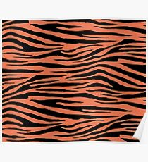 0083 Burnt Sienna Tiger Poster