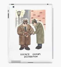 Discrete Uniform Distribution - Maths Pun Watercolour Card iPad Case/Skin