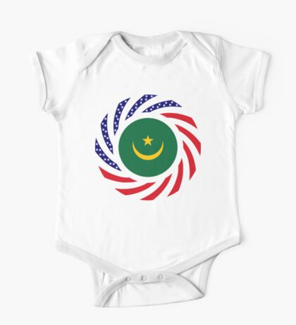 Mauritanian American Multinational Patriot Flag Series Kids Clothes