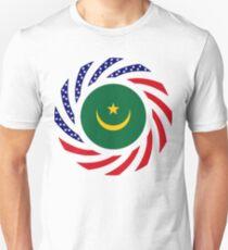 Mauritanian American Multinational Patriot Flag Series Slim Fit T-Shirt