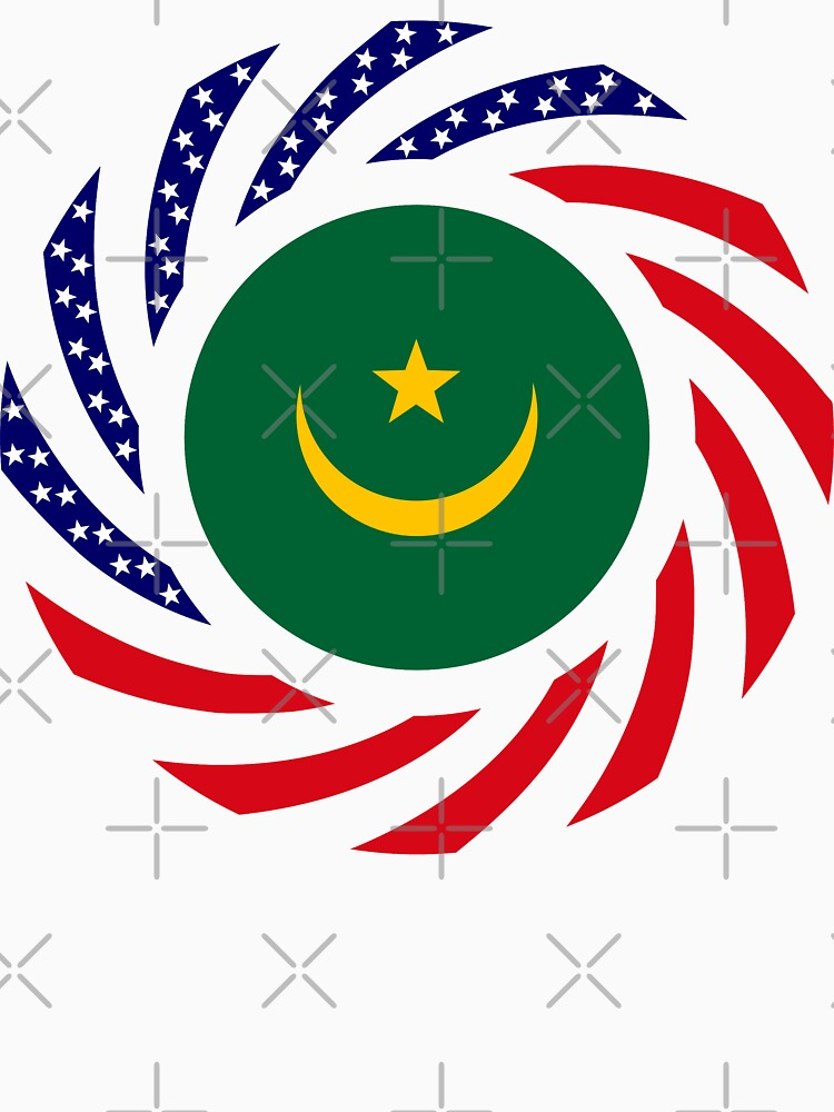 Mauritanian American Multinational Patriot Flag Series by carbonfibreme