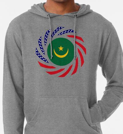 Mauritanian American Multinational Patriot Flag Series Lightweight Hoodie