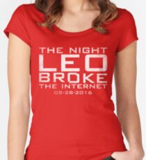 the night leo broke the internet Women's Fitted Scoop T-Shirt