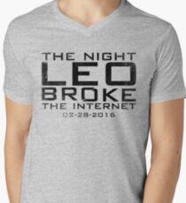 the night leo broke the internet Mens V-Neck T-Shirt