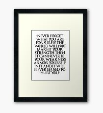 Game of Thrones - Tyrion Quote Framed Print